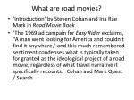 what are road movies