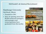 mcdonald s internal recruitment