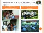 desarrollo del plan de salud territorial 2012 20151
