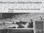 rome creates a balanced government1