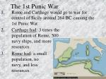 the 1st punic war