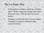 the 1st punic war1