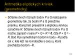 aritmetika eliptick ch kriviek geometricky1