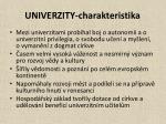 univerzity charakteristika1