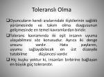 toleransl olma