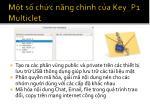 m t s ch c n ng ch nh c a key p1 multiclet