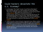 could hackers devastate the u s economy