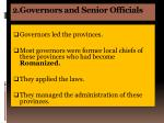 2 governors and senior officials