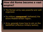 how did rome become a vast empire