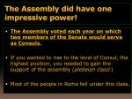 the assembly did have one impressive power