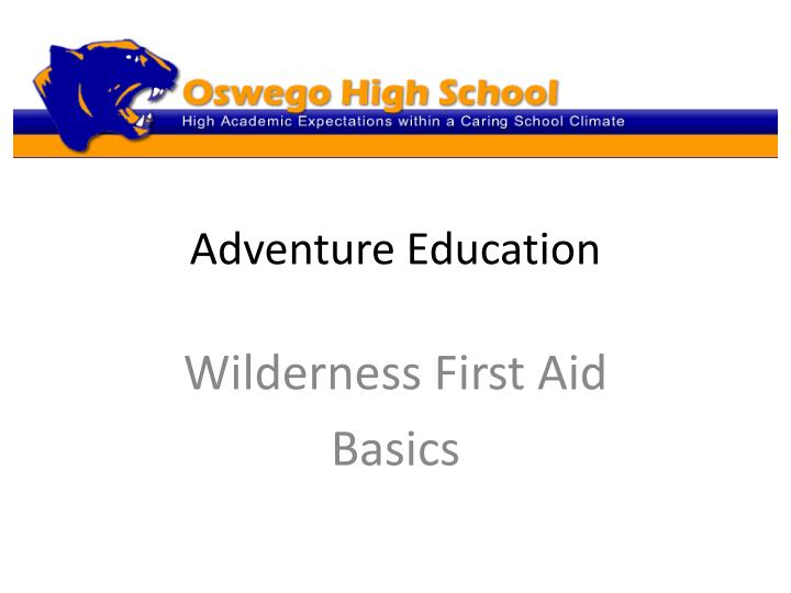 adventure education n.
