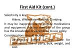 first aid kit cont