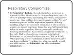 respiratory compromise2