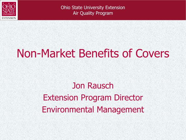 non market benefits of covers n.
