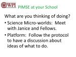 pimse at your school