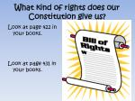 what kind of rights does our constitution give us