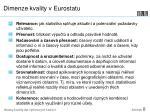 dimenze kvality v eurostatu