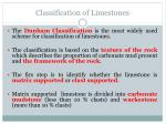 classification of limestones