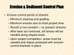 erosion sediment control plan