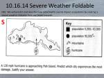 10 16 14 severe weather foldable