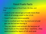fossil fuels facts