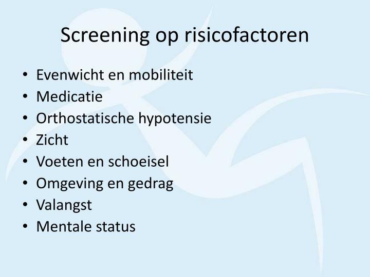 Screening op risicofactoren