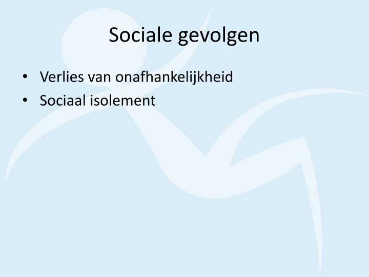 Sociale gevolgen