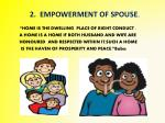2 empowerment of spouse