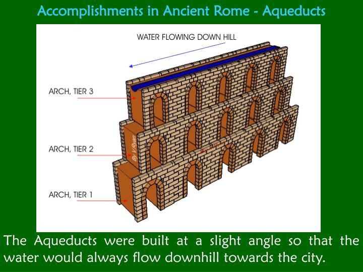 Accomplishments in Ancient Rome - Aqueducts