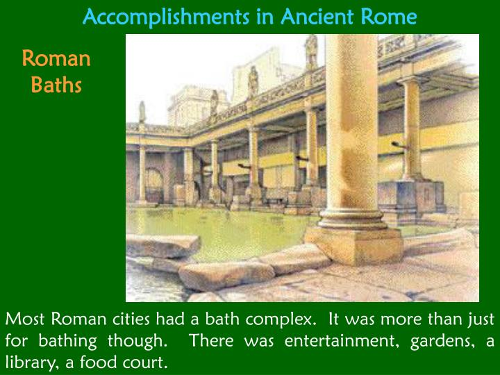 Accomplishments in Ancient Rome