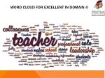 word cloud for excellent in domain 4