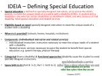 ideia defining special education