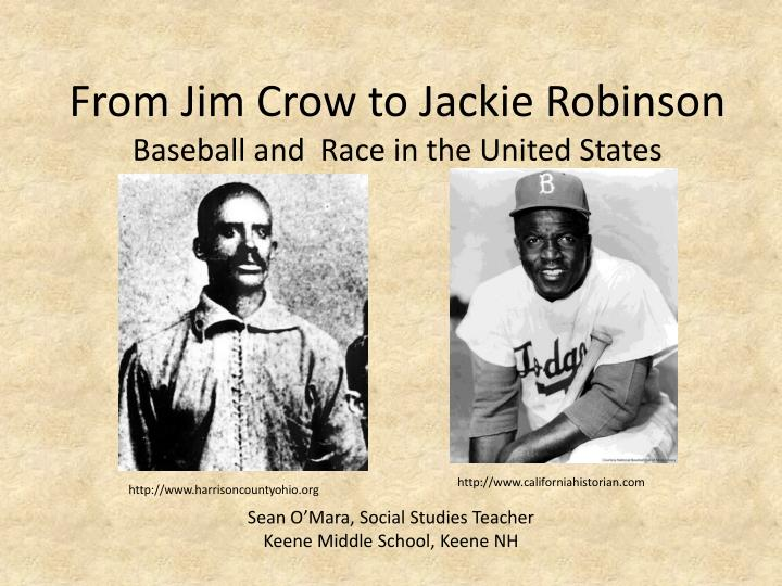 from jim crow to jackie robinson baseball and race in the united states n.