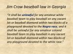 jim crow baseball law in georgia