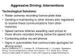 aggressive driving interventions