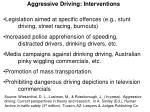 aggressive driving interventions2