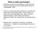 what is traffic psychology