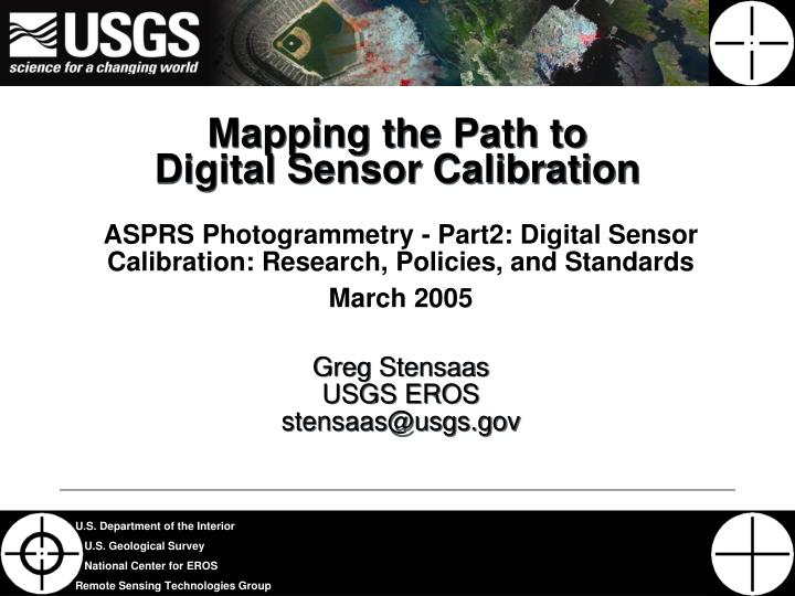 mapping the path to digital sensor calibration n.
