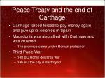 peace treaty and the end of carthage