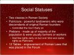 social statuses