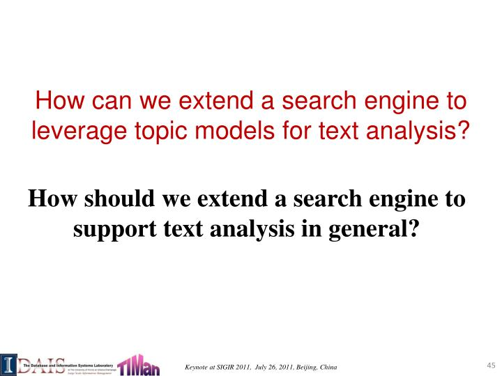 How can we extend a search engine to
