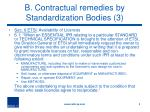 b contractual remedies by standardization bodies 3