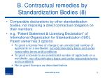 b contractual remedies by standardization bodies 8