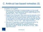 c antitrust law based remedies 5