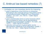 c antitrust law based remedies 7