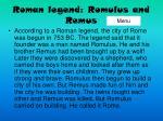 roman legend romulus and remus