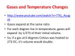 gases and temperature changes