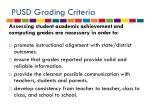 pusd grading criteria