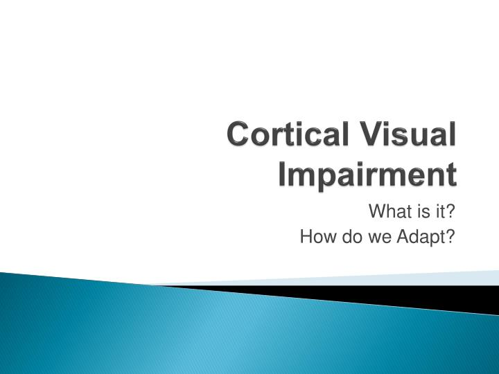cortical visual impairment n.