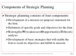 components of strategic planning1